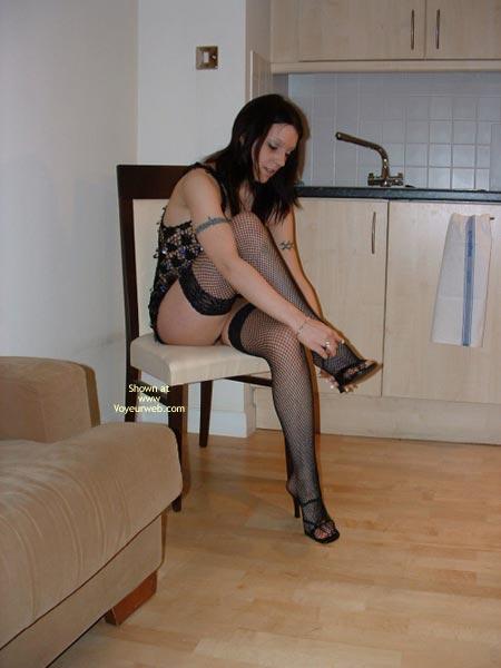 Pic #5 - Cute Girl In Fishnet Stockings