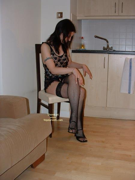 Pic #6 - Cute Girl In Fishnet Stockings