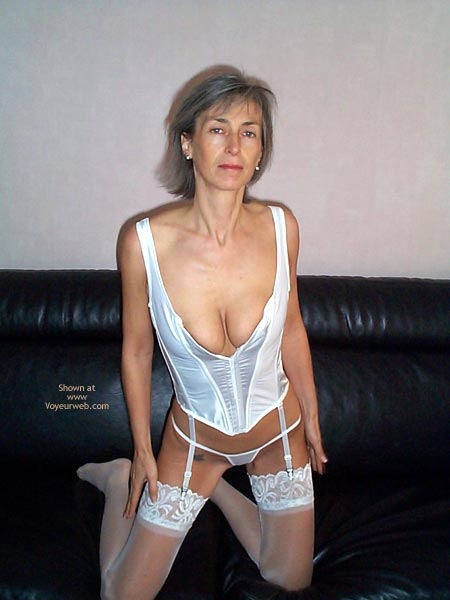 Pic #4 - Gayle Tries White Lingerie This Time