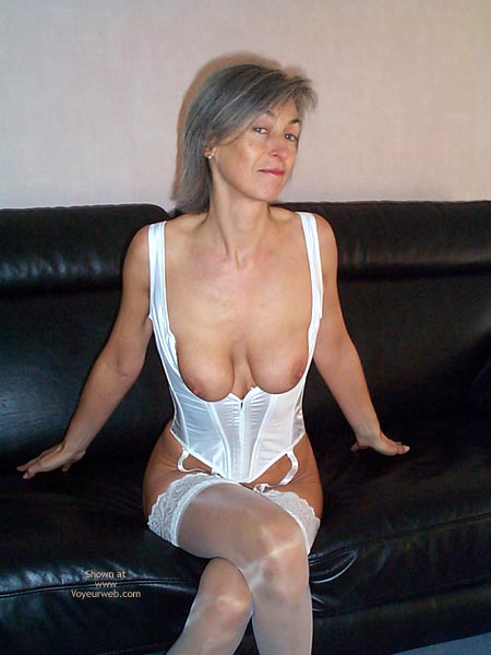 Pic #5 - Gayle Tries White Lingerie This Time