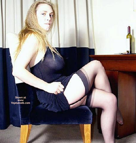 Pic #4 - Lydia In Black Dress And Stockings