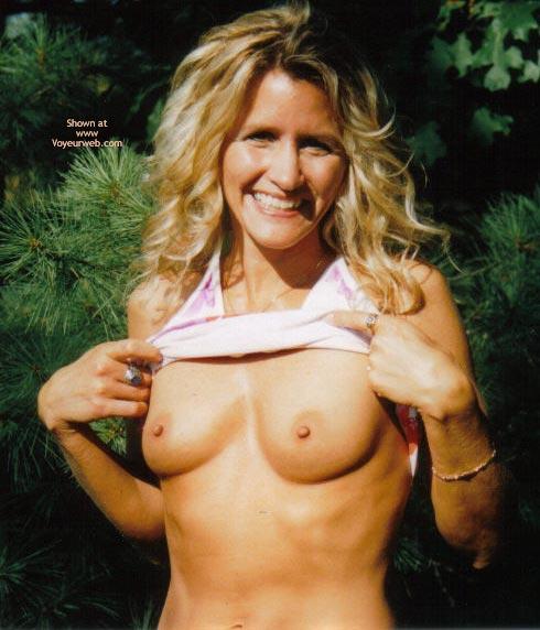 Pic #1 - Long Blonde Hair - Long Hair, Small Breasts , Long Blonde Hair, Small Breasts, Top Lifted Up