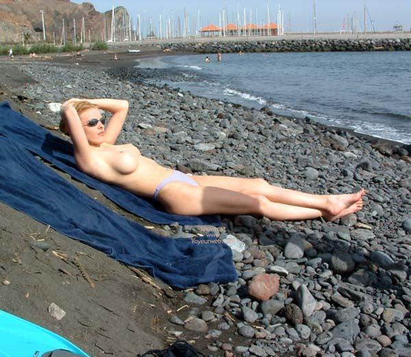 Pic #5 - Big Fake Tits On The Beach