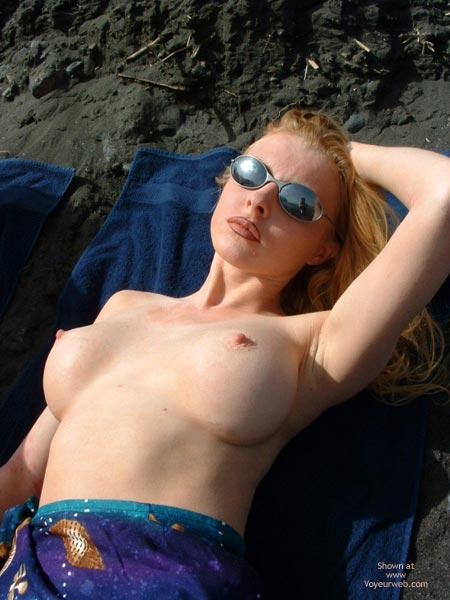 Pic #7 - Big Fake Tits On The Beach
