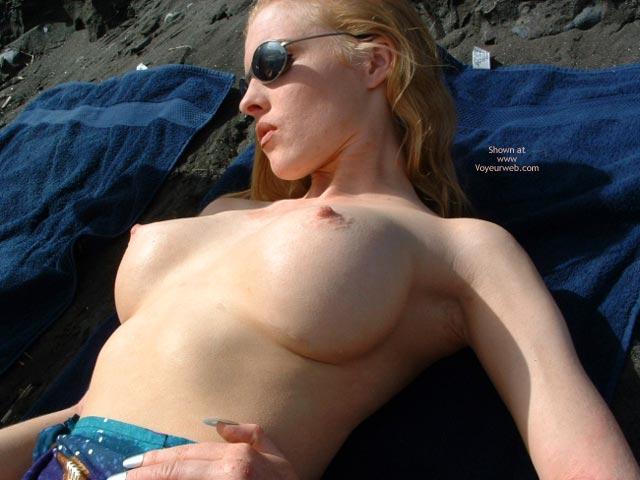 Pic #8 - Big Fake Tits On The Beach
