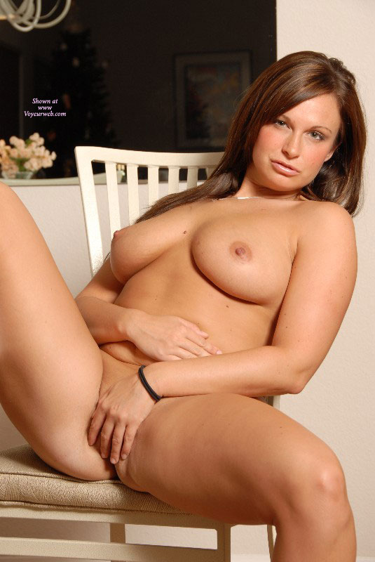 Pic #1 - Nude Girl On A Chair - Brown Hair, Erect Nipples, Large Breasts, Long Hair, Natural Tits, Spread Legs, Naked Girl, Nude Amateur, Nude Wife, Sexy Legs , Hand On Pussy, Curvy, Spread Legs, Wife Posing Nude, Fingers On Pussy, Sexy Eyes