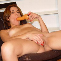 Sucking My Dildo