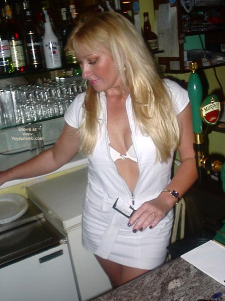 Pic #1 - Sex Mad Slut Serving Behing The Bar