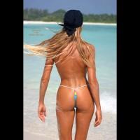 Bronzed Body - On Beach, Rear View, Sexy Body