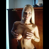 Cupping Breast - Huge Tits, Topless