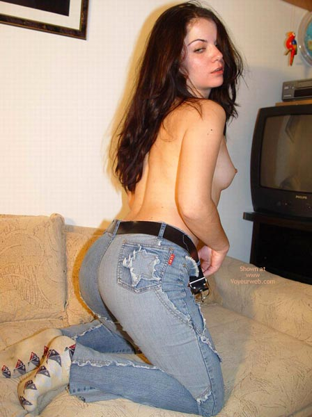 Pic #2 - Sexy Stripping On A Sofa