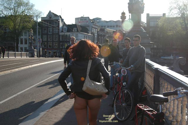 Pic #3 - Monique Flashing In Amsterdam