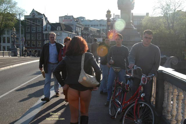 Pic #4 - Monique Flashing In Amsterdam