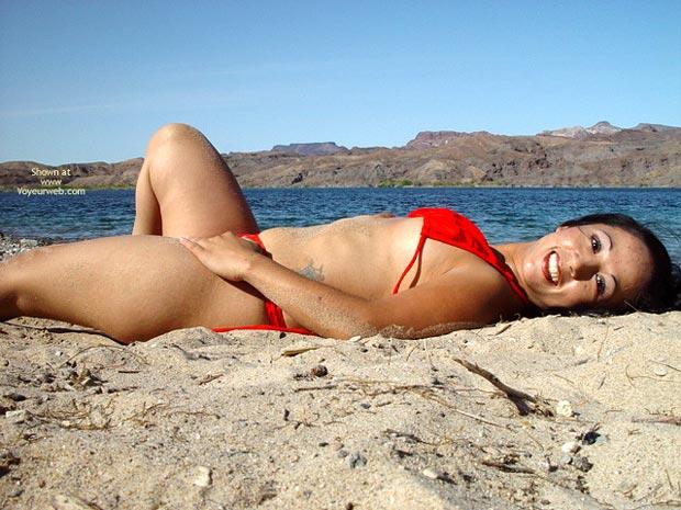 Pic #5 - Gigi Taking My Bikini Off At The Beach