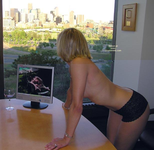 wife watching