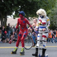 Naked Clowns On Wheels - Nude In Public, Naked Girl, Nude Amateur