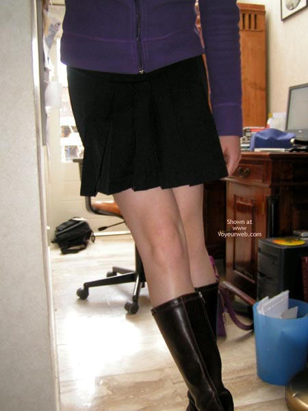 Pic #2 - Cute Dutch Girl In And Out Of Short Skirt!