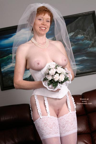 Pic #2 - Liz In Her Blushing Bridal Corset
