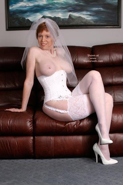 Pic #4 - Liz In Her Blushing Bridal Corset