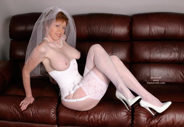 Pic #5 - Liz In Her Blushing Bridal Corset