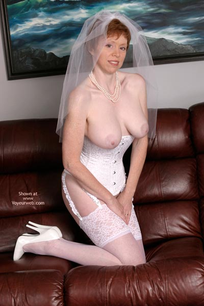 Pic #9 - Liz In Her Blushing Bridal Corset