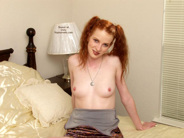 Pic #4 - Nicole Playing On The Bed.