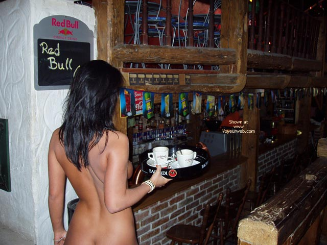 Pic #1 - Carrying Tray - Nude In Public , Carrying Tray, Naked Waitress, Nude Indoor, Nude In Public, Nude In Bar