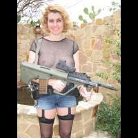 Texas Kim With Guns I