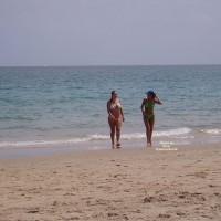 Hot Pregnant Lady On Beach