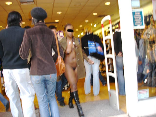 Pic #1 - Public Nudity - Boots, Nude In Public, Naked Girl , Public Nudity, Exposed In Crowded Shopping Mall, Shopping Naked, Black Boots