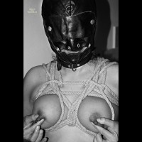 Masked And Tightly Tied Up Breasts - Bondage