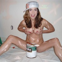 Funny Girl Covered In Paint - Naked Girl, Nude Amateur