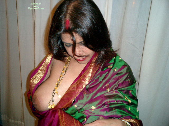 Pic #1 - Asked To Show Her Tit , A Bit Reluctantly She Agrees To Show One Of Her Formidable Tits....