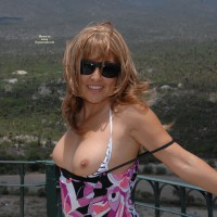 Flashing Tits Outdoors - Blonde Hair, Flashing, Sunglasses, Topless