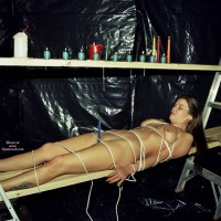 Naked Girl In Bondage - Bondage, Pierced Nipples