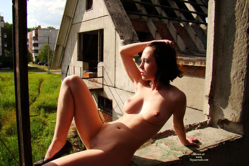 Pic #1 - Nude Outdoors In Heels - Brown Hair, Hairy Bush, Large Breasts, Trimmed Pussy, Naked Girl, Nude Amateur , Naked In The Country, Beautiful Boobs, Large Natural Breasts, Natural Firm Full B-cup Breasts, Short Brown Hair, Nude And Sitting On A Ledge In Half-finished Building, Nude Getting Some Sun