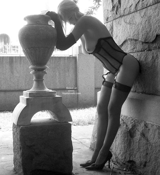 Pic #1 - Classic Fetish Dress - Nude Amateur, Sexy Legs, Sexy Lingerie, Sexy Wife , Black Corset, Gloves, And Stockings, Outdoors In Lingere B&w, Corset And Vase, Black And White, Artsy Slender Blond Thoughtful And Sexy, Black And White Blond Outdoors In Hose And Corset, Outdoors In Lingere, Dressed For Sex, Artistic Nude Pose