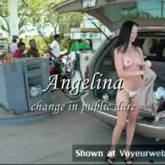 Angelina - Change In Public Dare