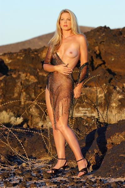 Pic #1 - See-through Shawl , See-through Shawl, Naked In Wilderness, Outdoor Tits, Model Figure, Erotic Art