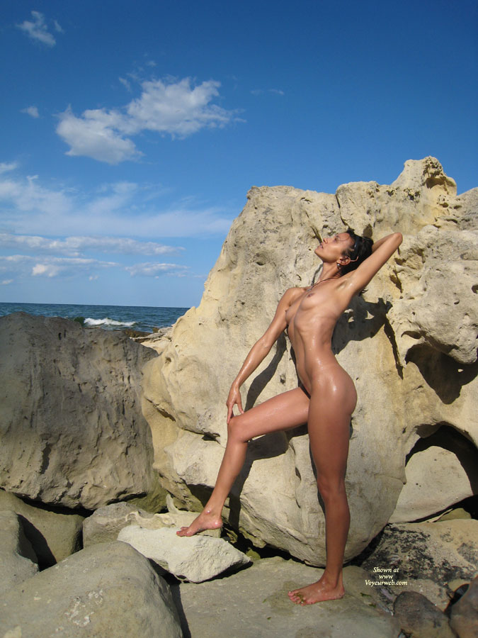 Pic #1 - Naked Girlfriend At The Rocks - Small Breasts, Naked Girl, Nude Amateur , Loves The Breeze On Her Nude Body, Rocky Coast, Underarm Showing, Naked Mountain Climber, Arms And Body Very Thin, Nude Girl Stretching In Sun, Arched Back And Flat Tummy, Small Pert Breasts, Beach Nude, Petite Breasts, Armpits, Slim Toned Body, Sun Whorshipping