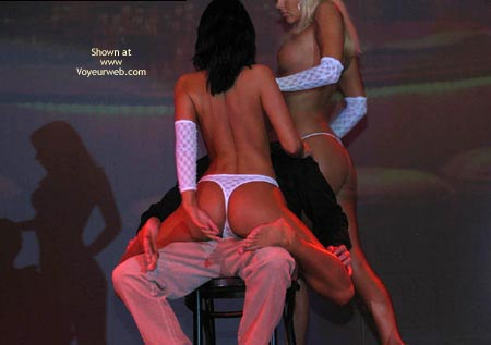 Pic #3 - Two strippers teasing one guy