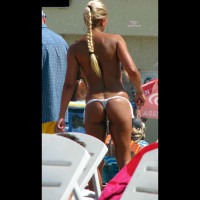 Beach Thong Shot - Blonde Hair, Topless Beach, Beach Voyeur, Sexy Ass