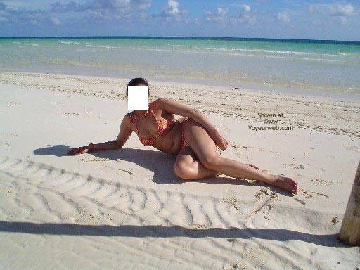 Pic #1 - My Lovely Pakistani Wife At A Caribbean Beach