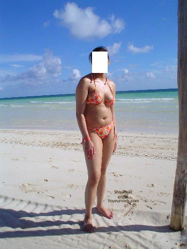 Pic #2 - My Lovely Pakistani Wife At A Caribbean Beach