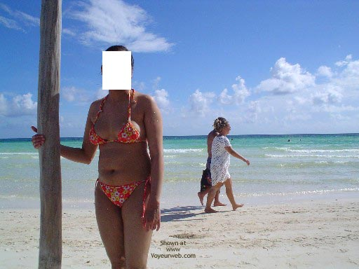 Pic #3 - My Lovely Pakistani Wife At A Caribbean Beach