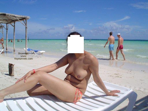 Pic #7 - My Lovely Pakistani Wife At A Caribbean Beach