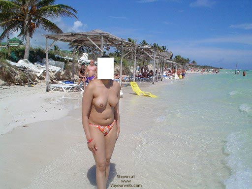 Pic #8 - My Lovely Pakistani Wife At A Caribbean Beach