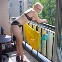 Naked At Balcony