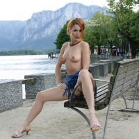 Flashing In Public Frontal View - Exhibitionist, Flashing, Hard Nipple, Perfect Tits, Topless