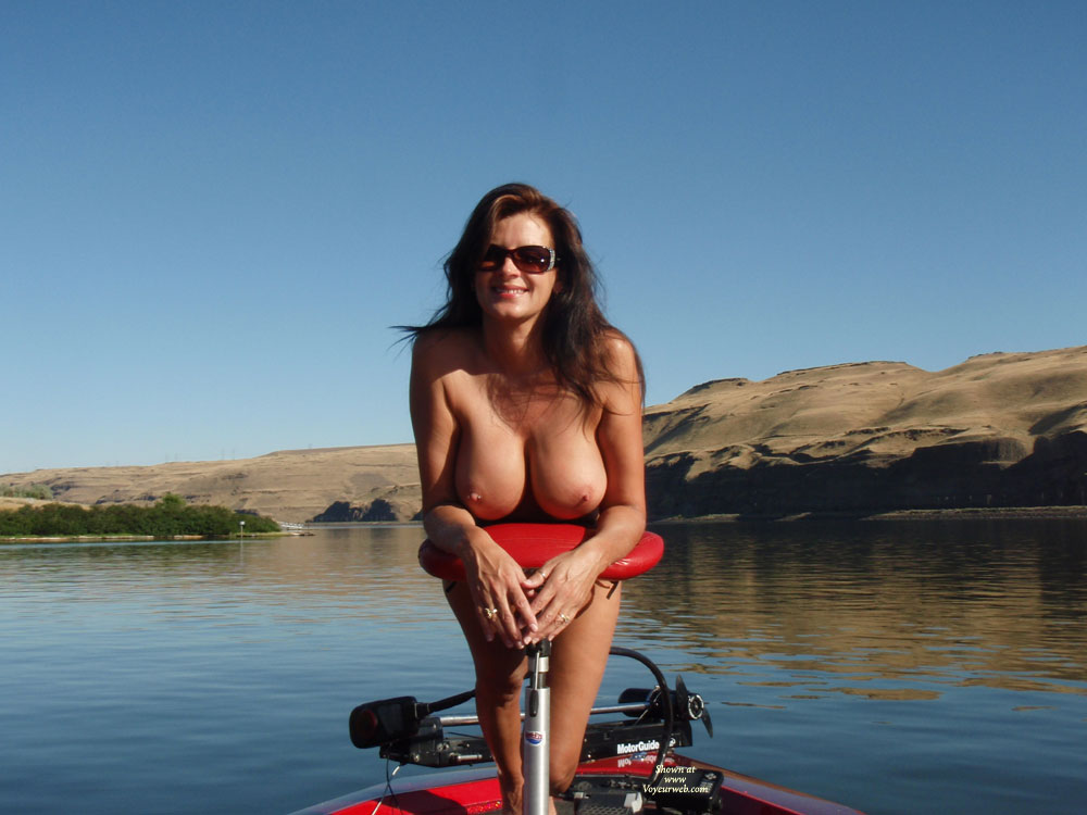 River Siren Brute With Long Hair Naked On The Lake